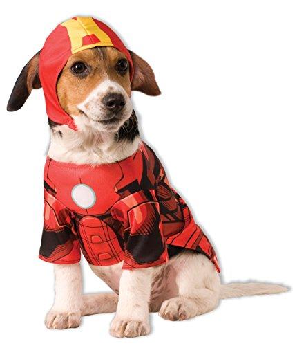 Rubie 's Offizielles Iron Man Pet Hunde Kostüm-groß