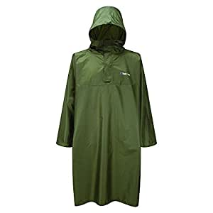 Trekmates Deluxe PAK Poncho - water-resistant rain poncho with integrated rucksack protection (up to 85L), sealed seams, unisex, 2000mm