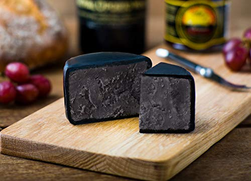 New! Charcoal Cheese - 200g Waxed Truckle