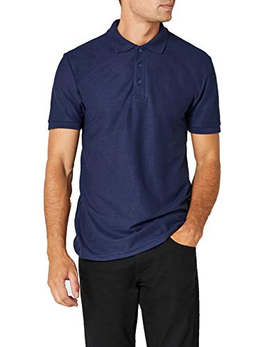 Fruit of the Loom Herren Heavy, 65/35 Poloshirt, Navy, L - Navy Blue Hoodie-shirt
