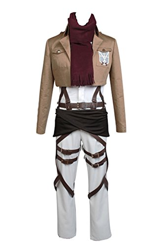 Jeylu Shingeki no Kyojin Attack on Titan Mikasa Ackerman Cosplay Kostüm EU Größe Gr. L, ()