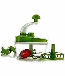 Blue Birds Manual Food Processor - Chopper, Blender, Atta Maker, Dough Kneader,14 Pieces BLUE