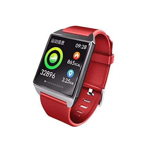 Mode Y2/W2 Armband Blutdruck-Test, Herzfrequenz-Test Intelligente Armbanduhr Farbe Bildschirm Blutdruck / Herzfrequenz Bluetooth Smart Armband Sportuhr (Rot)