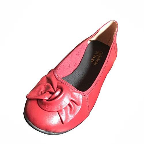 LILIHOT Frauen Sommer flachen Mund Bogen lässig Mutter Schuhe Square Dance Single Schuhe Damenmode Casual Komfort Sommer Flache Sandalen Schuhe Sommer Schuhe -