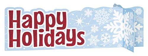Unique Party 63537 - Centrotavola natalizio con fiocchi di neve