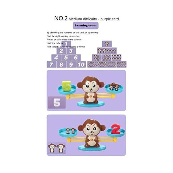 Ahagut Matemática Escalas Juguetes Monos balanza Juguetes Escalas Animales matemática Juguetes educativos Habilidades Juguetes educativos Juguetes para niños 4