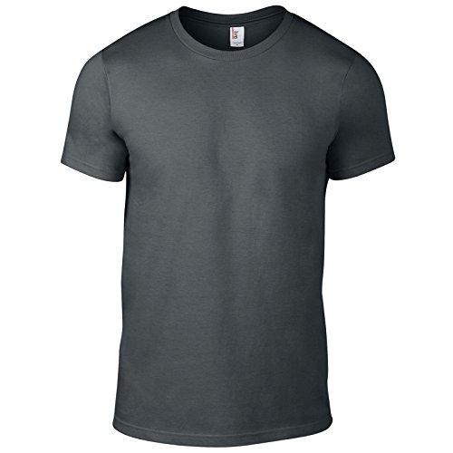 Anvil Herren Modern T-Shirt Anthrazit