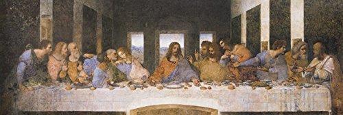 1art1 88374 Leonardo Da Vinci - Das Letzte Abendmahl, 1494–1499 Poster Leinwandbild Auf Keilrahmen...
