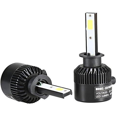 Auto Scheinwerfer - Kingwo H1 110W 20000LM LED Scheinwerfer Umbausatz Auto Strahl Birne Fahrlampe 6000K