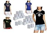 Damen Funshirts Adventskalender 24 T-Shirts S-M oder L-XL Gesamt 24 vers. Damen Shirts in einem...