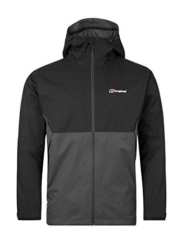 berghaus Fellmaster 3in 1Gore-Tex Wasserdichte Jacke mit Fleece–Carbon/schwarz, mittel