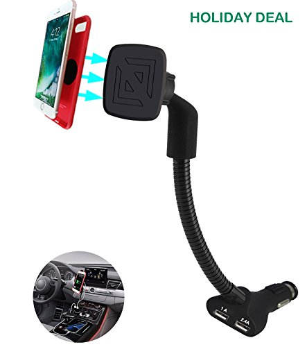 Kfz Handyhalterung magnet ,2 in 1 Handy Halterung Auto mit 3.4A 2 USB Ladegerät für iPhone X 8 7 6 6s Plus Galaxy S8 S7 S6 S5,Note 8 7 6 5 4 3 ,Huawei Xperia Nexus LG and GPS Naivs Geräte(Magnetische)