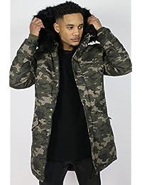 Manteau Parka Camouflage Sixth June M2015SOW Vert Homme Streetwear