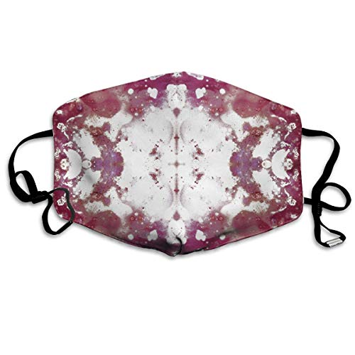Daawqee Staubschutzmasken, Raspberry Oil Rorschach Tile Breathe Healthy Face Mask.Comfortable, Reusable - Filters Dust, Pollen, Allergens, Flu Germs with Antimicrobial Germ Killing