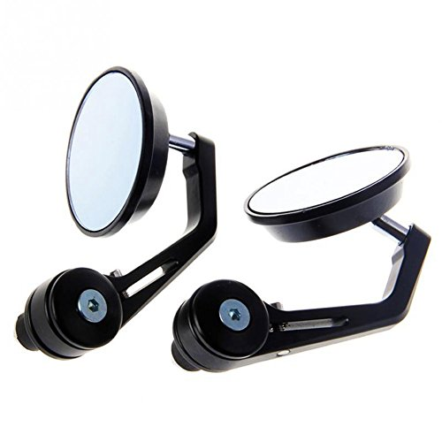 confezione da 2 Tuincyn 7//20,3/cm 22/millimetri moto maniglia End specchietti retrovisori universali alluminio rotonda retrovisore adattatore nero