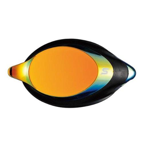SWANS optisches Glas für Schwimmbrille SRXCL-M Gold-verspiegelt, Sehstärke:-2.0