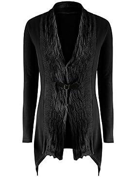 YOGLY Cardigan Chaqueta de Punto Mujer Chaqueta Twist de Cardigan de Punto Outwear Casual
