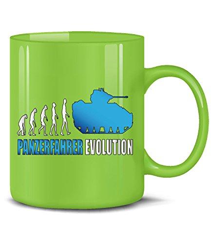 Panzer fahrer evolution tazza di caffè–tazza da tè–tazza in ceramica in vari colori verde / blu