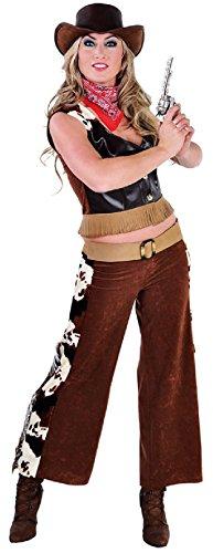 M212147-XXL-A Damen Cowgirl Weste-Hose Saloon Lady Gr.XXL
