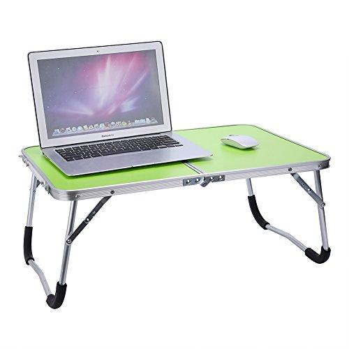 Cocoarm Multifunktionale Faltbare Laptoptisch Tragbare Klappbarer Notebooktisch Picknick Tisch Schlafsaal Notebook Schreibtisch Laptop Bett Tablett (Grüne) - Picknick-tisch Zubehör