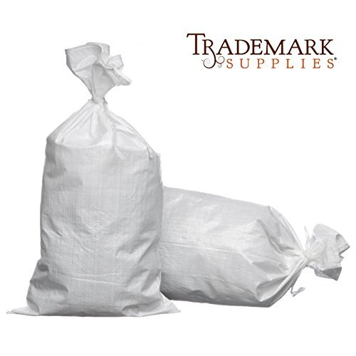 Woven Polypropylene Sand Bags With Ties & UV Protection Size: 14x26, Number o... by Trademark