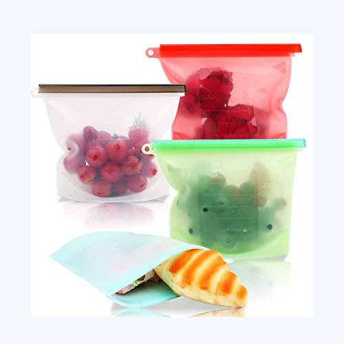 Ai LIFE Wiederverwendbare Silikonbeutel zur Aufbewahrung von Lebensmitteln Ideal zum Einkochen und Sous Vide Kochen BPA-frei, hygienisch und auslaufsicher Sicher in der Spülmaschine
