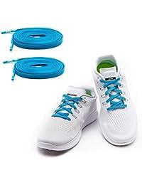 2619bced88e9 MAXXLACES Flache elastische Schnürsenkel mit einstellbarer Spannung in  verschiedenen Farben Schuhbänder ohne Binden komfortable Schuhbinden einfach