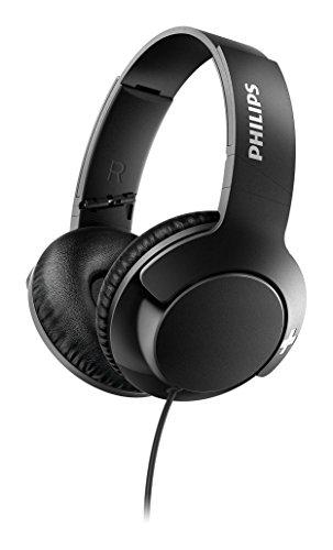 Philips BASS+ SHL3175BK Cuffie con Cavo, Microfono, Telecomando, Isolamento Acustico, Nero