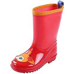 Meijunter Bambini PVC Antiscivolo Carino Stivali da pioggia Ragazze Ragazzi Impermeabile Stivali da neve Pioggia Scarpe Acqua Scarpe Stivali invernali