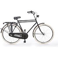 """TULIPBIKES, le vélo Hollandais original et unique """"Tulip 4"""", noir mat, 3 vitesses Shimano, hauteur de cadre 57cm"""