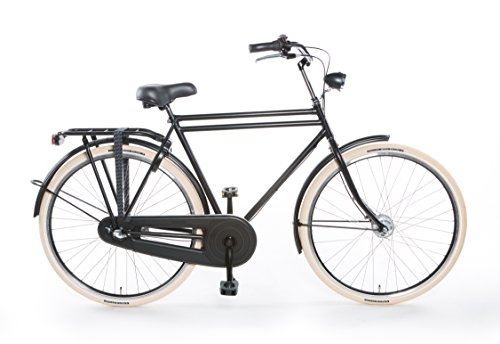 TULIPBIKES, le vélo Hollandais original et unique 'Tulip 4', noir mat, 3 vitesses Shimano, hauteur...