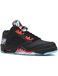 Nike – Air Jordan 5 Retro Basso CNY   Rare   – Nero Brillante Crimson Blue b4ab3a53e9c