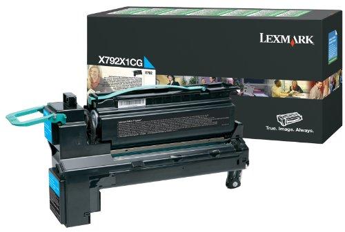 Preisvergleich Produktbild Lexmark X792X1CG X792 Tonerkartusche extra Hohekapazität 20.000 Seiten 1er-Pack Return Program,  cyan