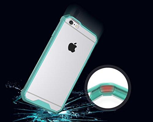 iPhone 6s Hülle,Mo-Beauty® Transparent Handyhülle [Clear] Soft Flex Crystal Clear Silikon Durchsichtig Schlanke Hülle [Luftpolster-Technologie] Durchsichtige Rückschale und TPU-Bumper Case Cover Schut Grüne