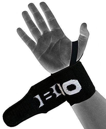 Kobo WTA-04 Power Cotton Gym Support with Thumb Support (Black)