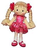 A B Gee C5428B 32 cm Emma Pink Rag Doll Dark Dress