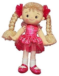 YT Juguetes c5428b 32cm Emma Rosa muñeca de Trapo Oscuro Vestido