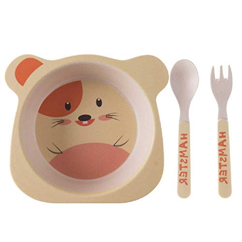 pyc88 Bambus Faser Kreative Cartoon Kinder Japanische Geschirr Umweltschutz Baby Mahlzeit Schale Baby HilfsSuppe Schale Kindergarten Mutter Und Kind Hamster de riz de Dessin animé -