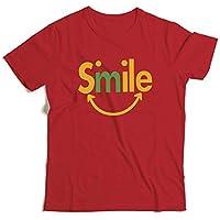 Z-X Americana Diseño Personalizado Creativo Camiseta Impresa de Algodón Hombres Y Mujeres Camiseta Universal, Rojo, SG