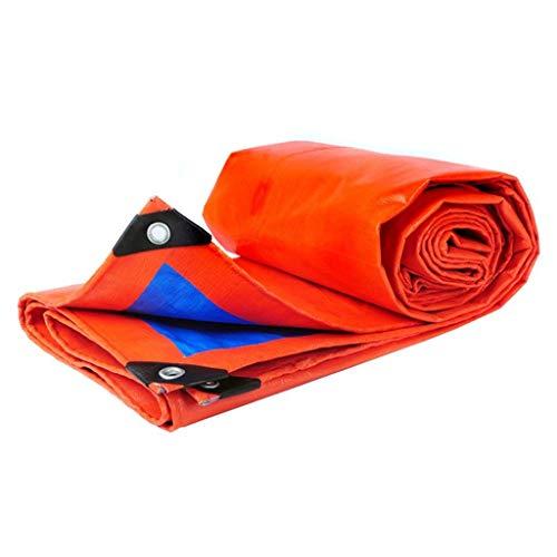BAIF Orange und Blaue Plane Sonnencreme Regenschutz Staubschutz Isolierung für Schwimmbecken überdachte Bootsanhänger Gartenmöbel Doppel Outdoor Camping Plane, Dicke 0,35 mm, 180 g / m2 (Größe: 2