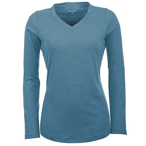 Antigua Damen Flip Long Sleeve Shirt, Damen, Teal/Heather -