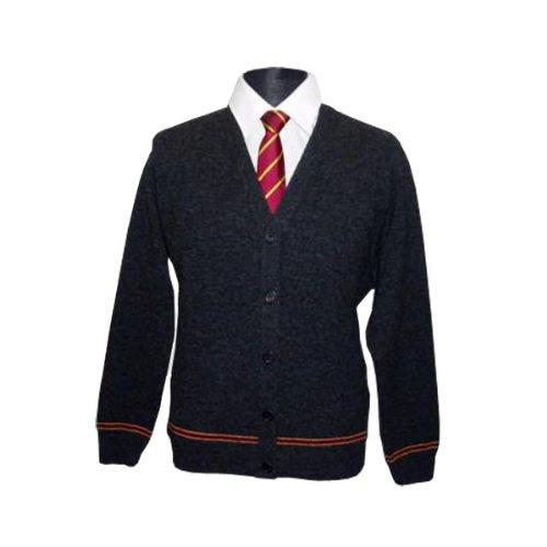 Harry Potter Gryffindor Cardigan Hogwarts Uniform direkt vom Filmausstatter 100% Lammwolle made in Schottland Schwarz