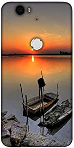 Snoogg Ship Sunset Designer Protective Back Case Cover For Lg Google Nexus 6P