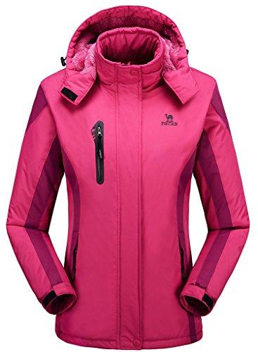 Damen Alternative Outerwear Coats Snowboardjacke Fleece gefüttert Skijacke - Rot - US X-Small