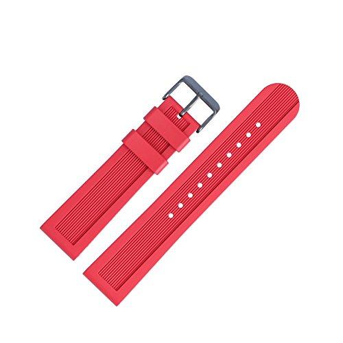 Victorinox Uhrenarmband 22mm Kunststoff Rot - Uhrband Set 003882