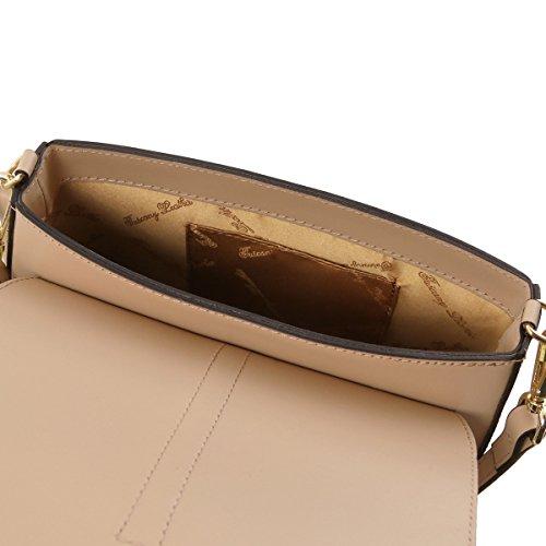 Tuscany Leather Nausica - Borsa a tracolla in pelle Ruga - TL141598 (Talpa Scuro) Talpa Scuro