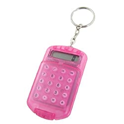 Generic Plastic Pocket 8 Digits LCD Display Calculator, Fuchsia