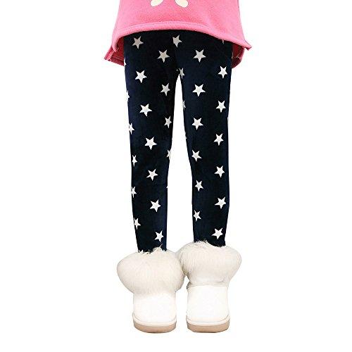 AIMEE7 Collants et Leggings, Les Enfants l'hiver Chaud Pantalons D'éPaisseur Jambières Fille Crayon Pantalon De Velours (5T, B)