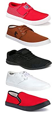 WORLD WEAR FOOTWEAR Sports Running Shoes/Casual/Sneakers/Loafers Shoes for MenMulticolors (Combo-(5)-1219-1221-1140-749-1138)