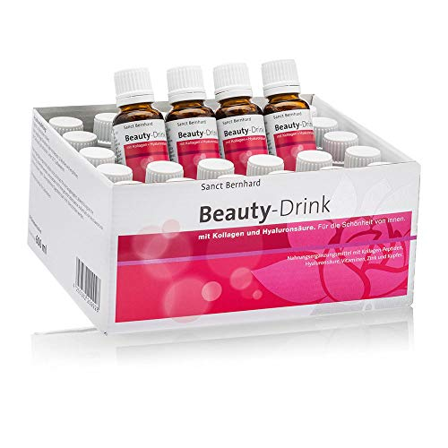 Sanct Bernhard Beauty-Drink mit Kollagen-Peptiden (VERISOL®), Hyaluronsäure, Vitaminen, Zink, Kupfer, Monatspackung 30x 20 ml - Beauty Drink